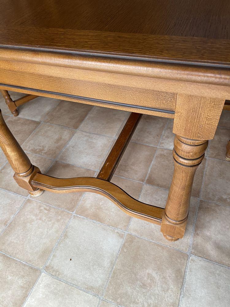 Table salle à manger en chêne  160 x 90 + 2 rallonges  200 La Ciotat (13)