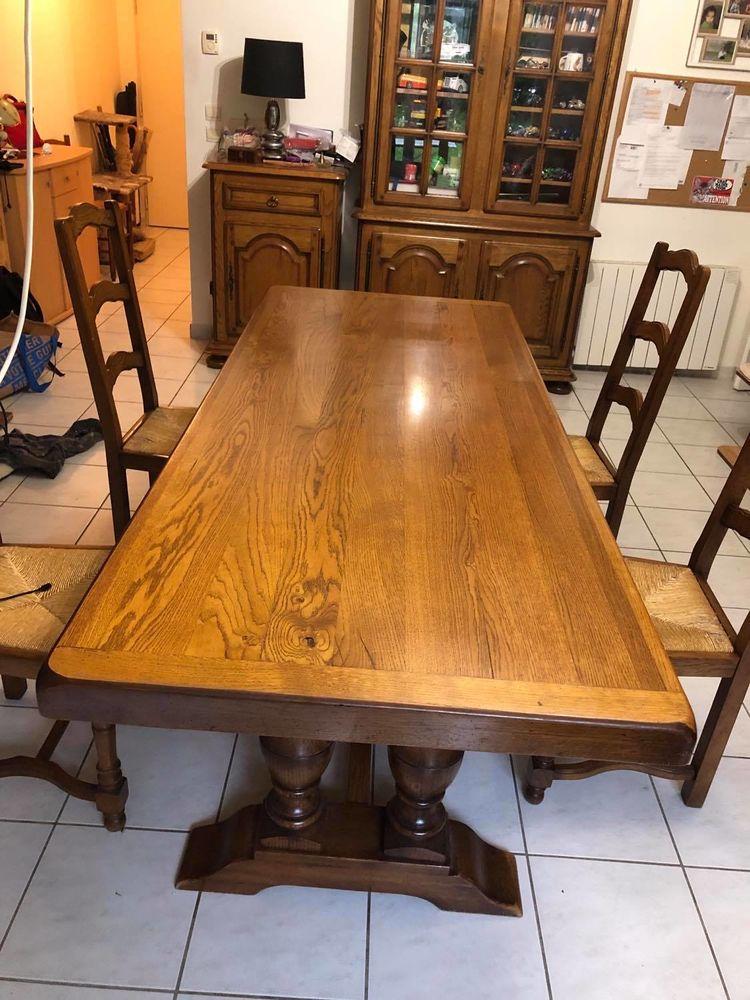 - table de salle à manger en chêne massif 250 La Chaussée-Saint-Victor (41)