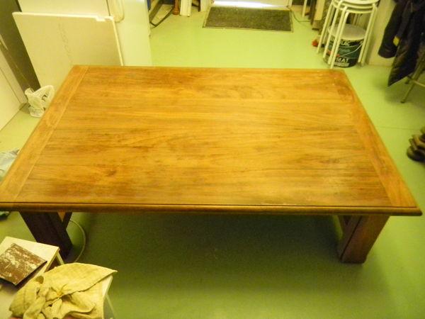 Table de salon en bois d'iroko 430 Nantes (44)