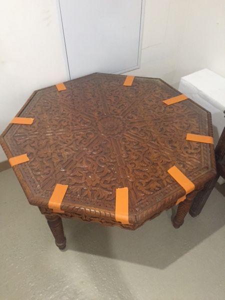 table de salon bois sculpté marocaine 100 Gif-sur-Yvette (91)