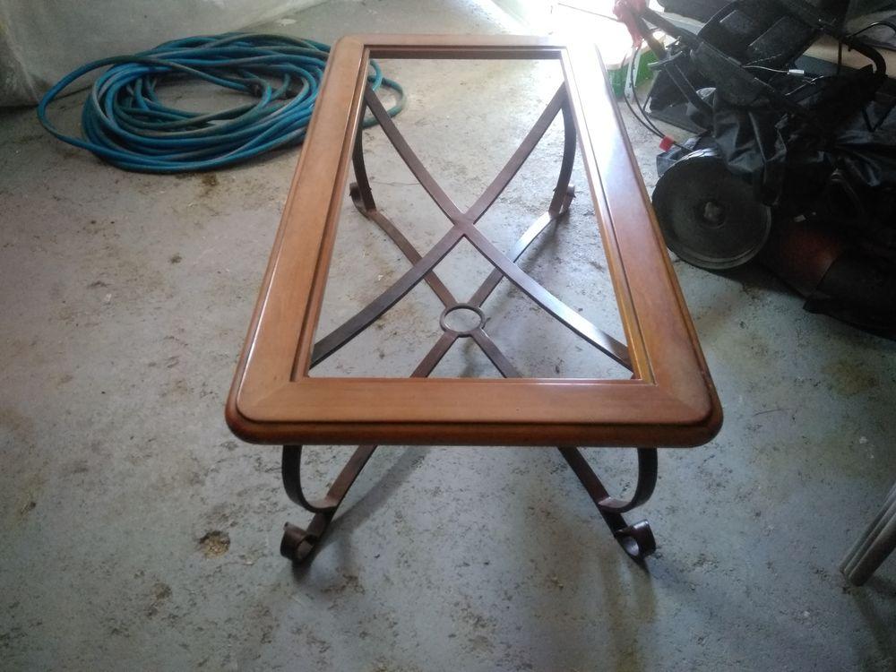 Table de salon bois verre fer 75 Villemur-sur-Tarn (31)