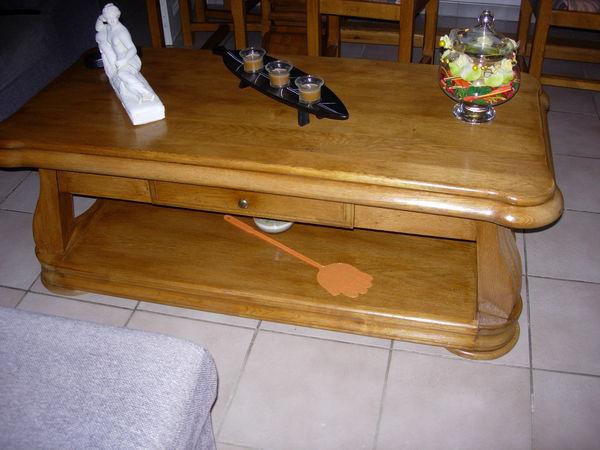 table de salon chène massif 120 Carcassonne (11)