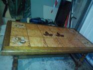 TABLE SALON chêne et carrelage 8 Lille (59)