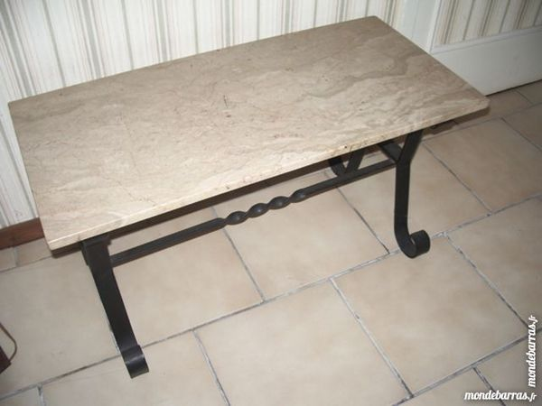 Achetez table de salon occasion annonce vente saint for Table basse dessus marbre