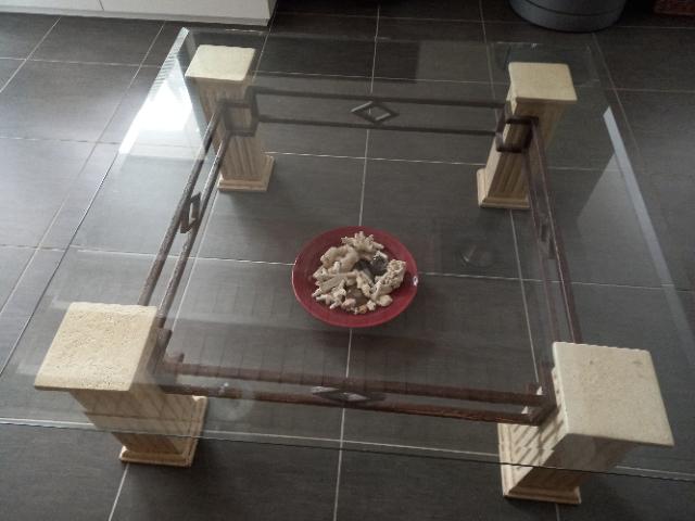TABLE SALON dessus VERRE 110 Pordic (22)