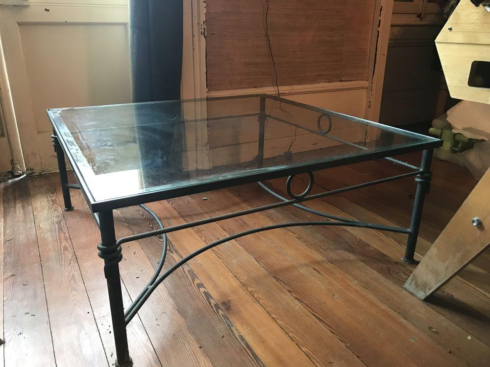 Table de salon en fer forgé et verre 50 Irigny (69)
