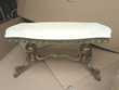 Table de salon  en  laiton      dessus en marbre