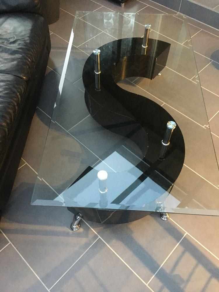 Table salon en noir laqué et verre 0 Escaudain (59)
