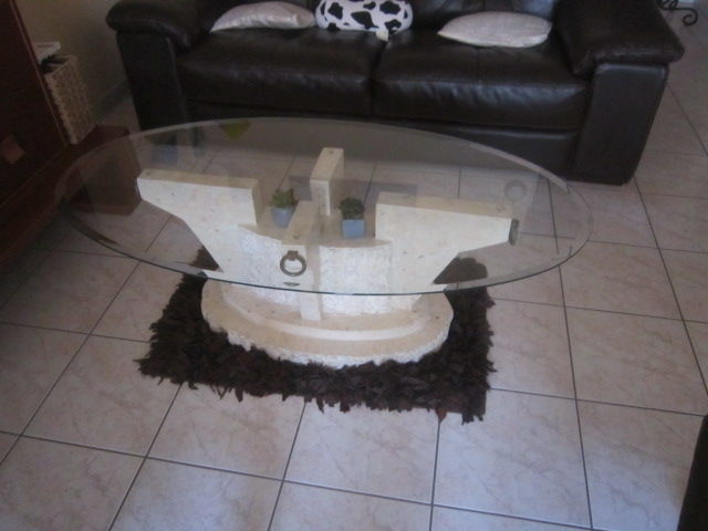 table de salon plateau verre 60 Bayonne (64)