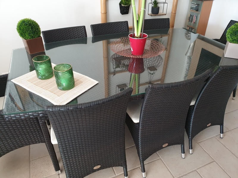 TABLE SALON TRESSE NOIR INTERIEUR / EXTERIEUR 500 Gétigné (44)