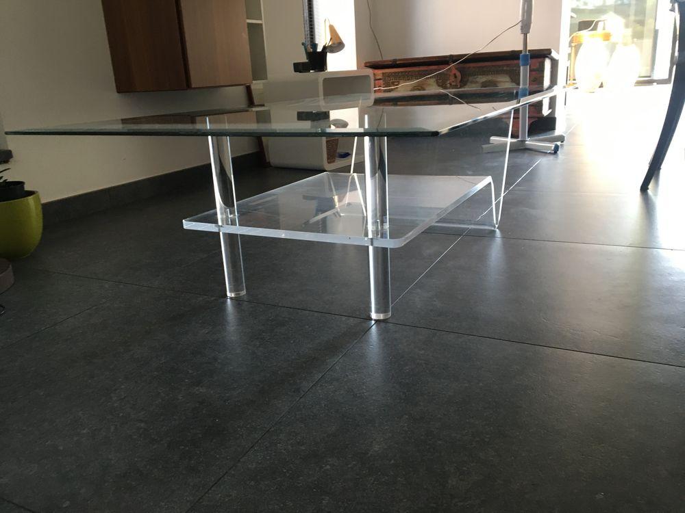 Table de salon en verre et résine  90 Lomme (59)