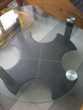 Table de salon en verre et cuir Meubles