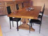 TABLE SEJOUR EN CHENE MASSIF 1300 Oyonnax (01)