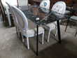Table de séjour plateau verre imitation marbre Toulouse (31)