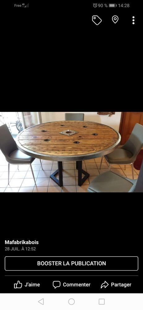 Table style industriel diamètre 140cm  450 Firminy (42)