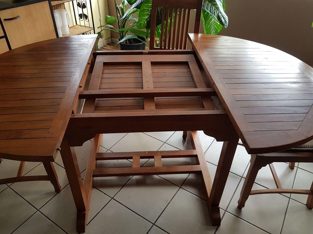 Table teck massif + 6 chaises teck 0 Sainte-Clotilde (97)