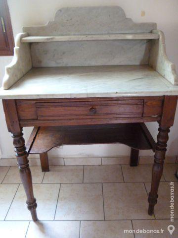 Table de toilette ancienne avec marbre 90 Argenton-sur-Creuse (36)
