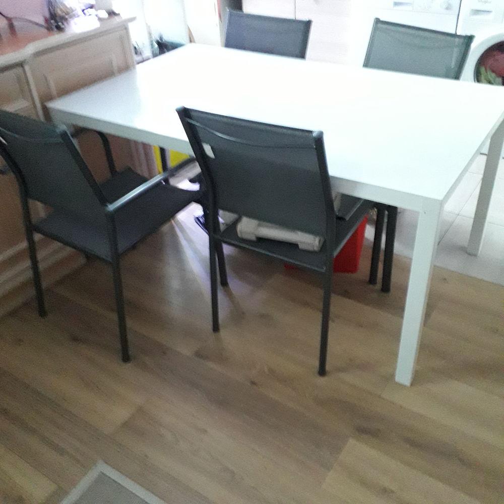 Table verre aluminium 4 chaises 185 Nice (06)