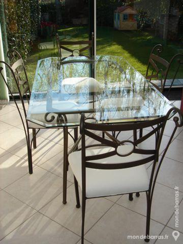 Achetez table en verre 4 occasion annonce vente for Table en verre fer forge