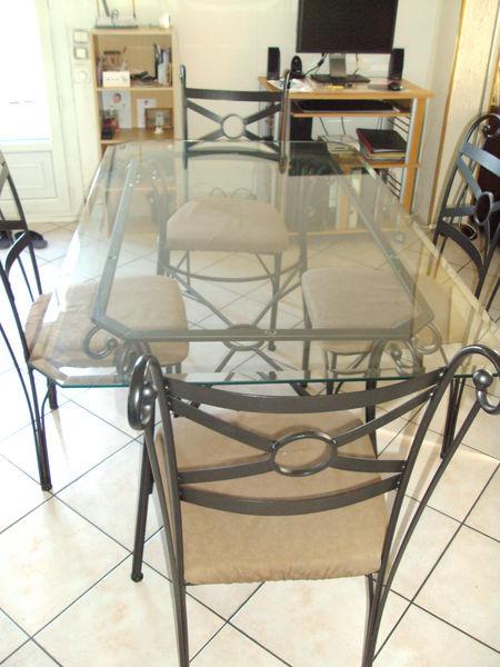 table en verre 6 chaises