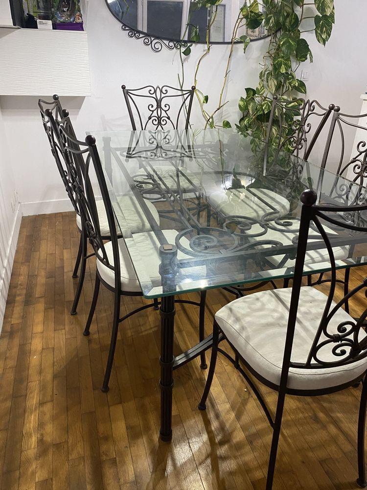 Table en verre fer forgé  700 Athis-Mons (91)