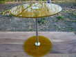 Table verre jaune design