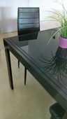 table verre et métal + 4 chaises 80 Montpellier (34)