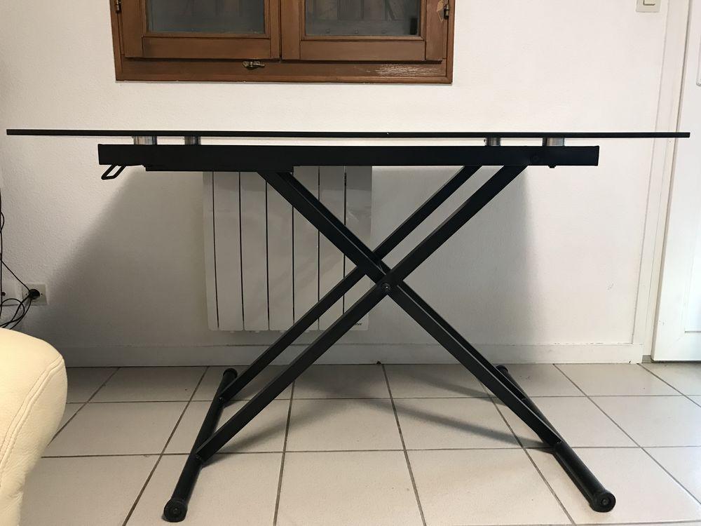 table verre noire relevable Neuf Meubles