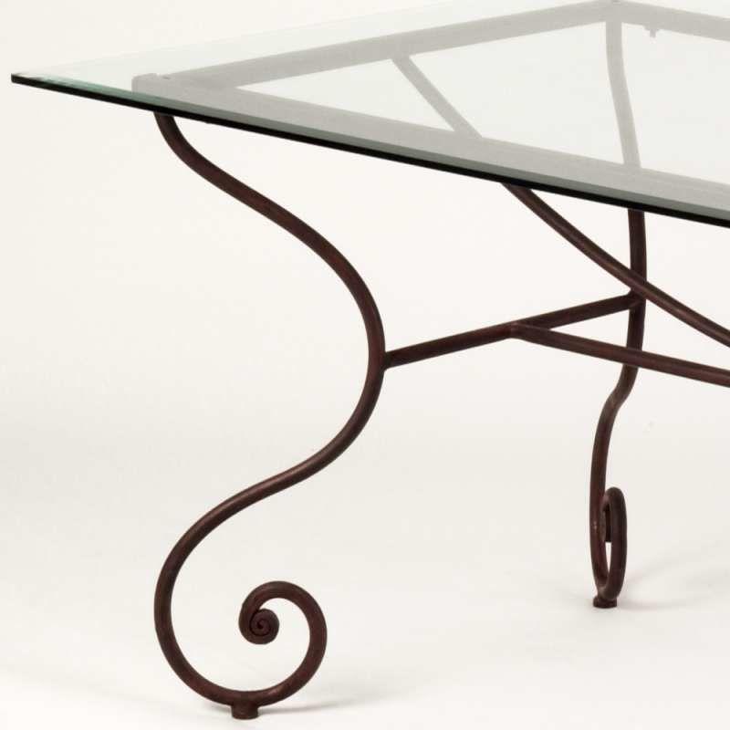 TABLE EN VERRE PIED FER FORGE 60 Paris 12 (75)