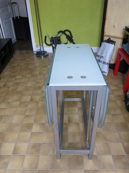 en verre en verre Table pliante Table kuwOPXZTi