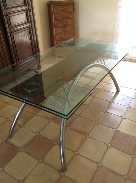 table verre roche bobois meubles