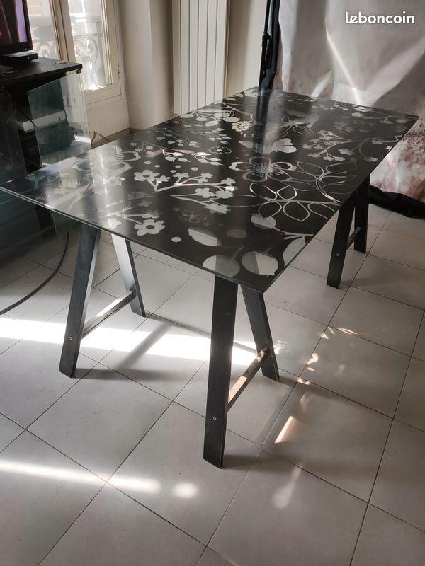 Table en verre de salle à manger ou salon 30 Marseille 6 (13)