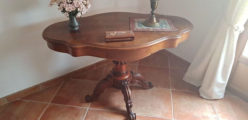 Table violon acajou avec deux tiroirs  0 La Cadière-d'Azur (83)