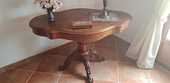 Table violon acajou avec deux tiroirs  130 La Cadière-d'Azur (83)
