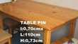 TABLE EN PIN Meubles
