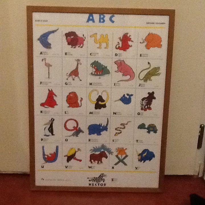 Tableau abécédaire animaux en anglais  20 Vincennes (94)