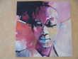 Tableau à l'acrylique et à l'huile. Africaine du TOGO Roquebrune-Cap-Martin (06)