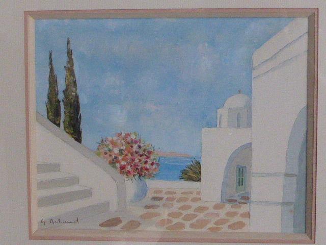 Tableau aquarelle gouache G Artaud 30 Rueil-Malmaison (92)