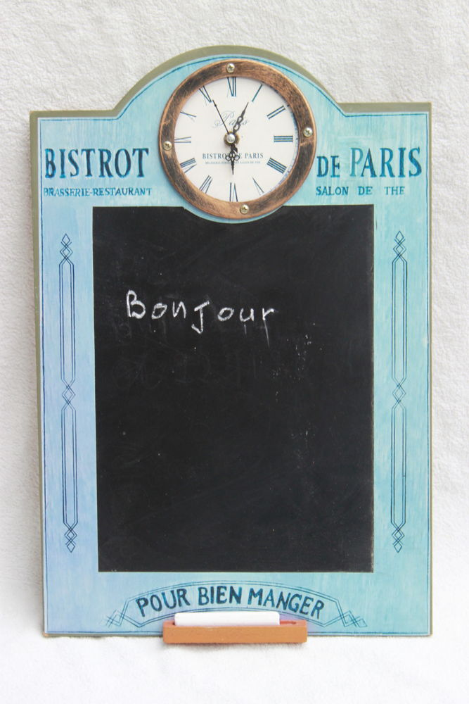 Tableau ardoise avec horloge  5 Montigny-Lencoup (77)