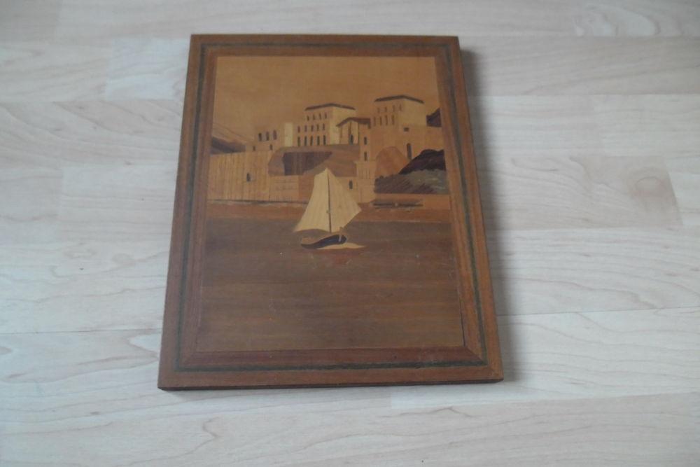 Tableau en bois marqueté 6 Juvisy-sur-Orge (91)