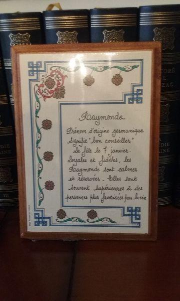 Tableau en bois prénom  Raymonde  10 Lésigny (77)