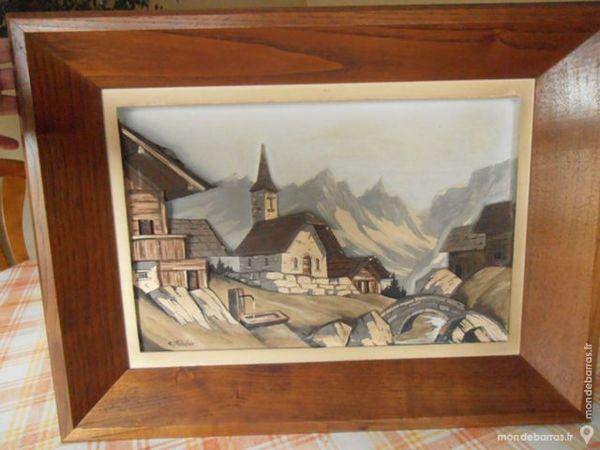 Tableau bois relief C HAULER 0 Vincennes (94)