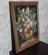 Tableau bouquet de fleurs - Peinture toile - Très bon état Décoration