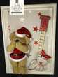 Tableau / cadre avec peluche nounours  Père Noël