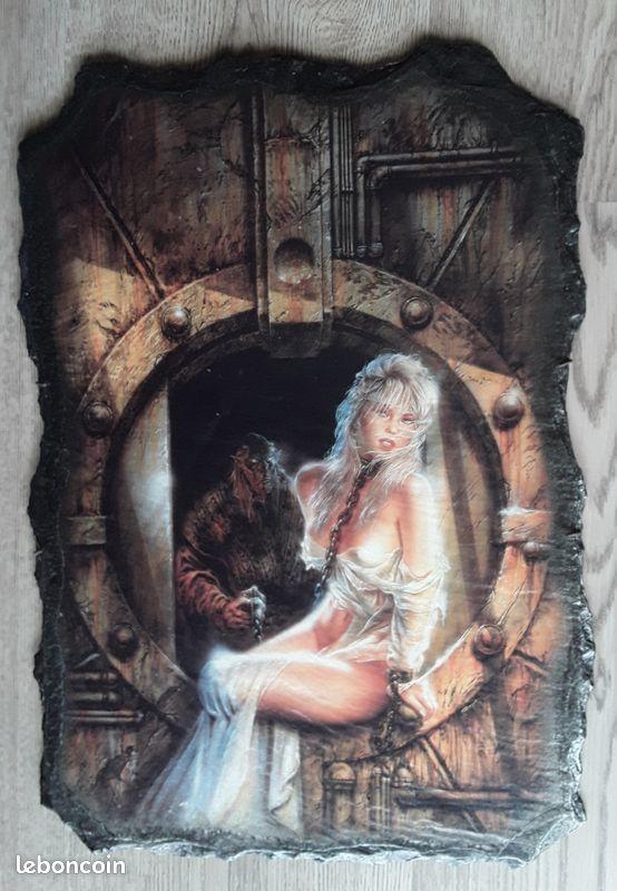 TABLEAU GOTHIQUE  Elfe prisonnière (sur Ardoise) 50 Draguignan (83)