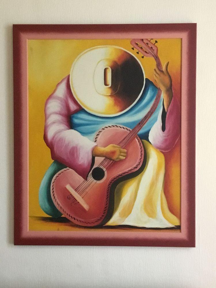 Tableau guitariste, avec encadrement  0 Menton (06)
