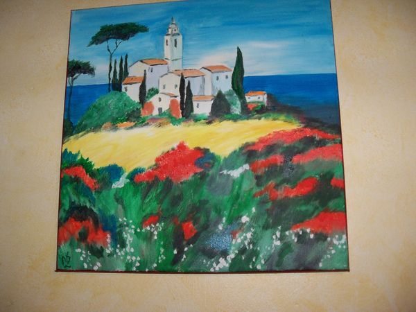 tableau huile paysage Luberon 40 Ferdrupt (88)