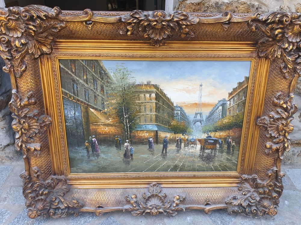 tableau huile sur toile 120×80 450 Villeneuve-Saint-Georges (94)