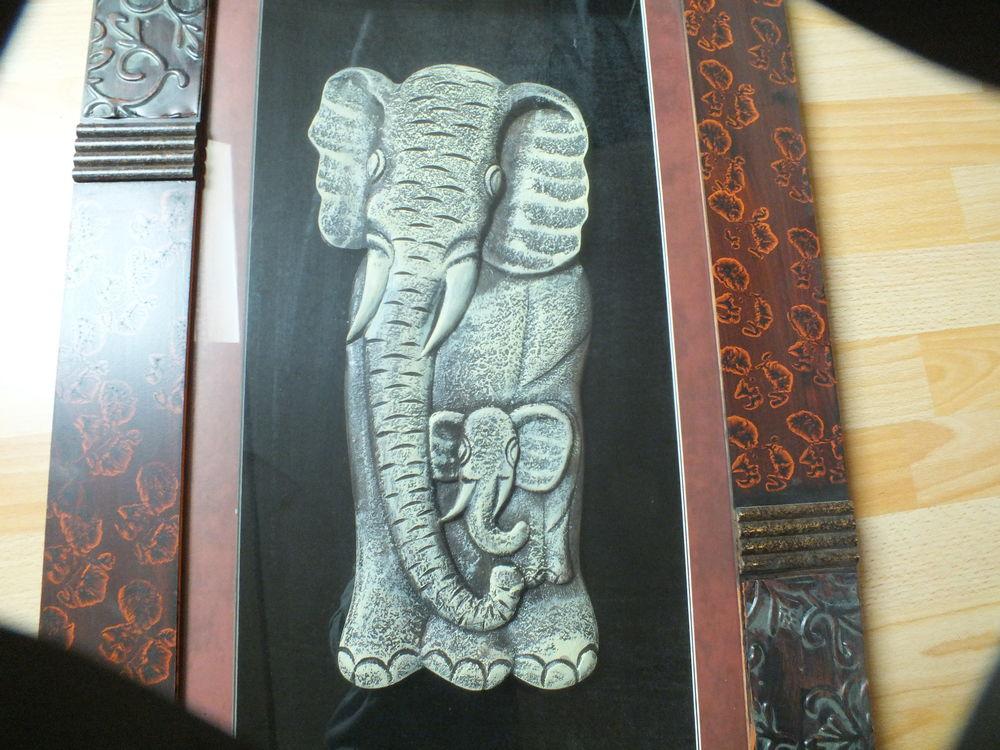 Tableau maman éléphant et son petit 55 Ézanville (95)