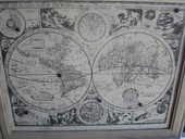 tableau mappemonde 56x45 les 2 hemispheres 50 Amélie-les-Bains-Palalda (66)